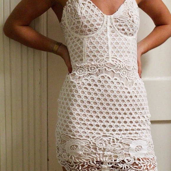 Missguided Dresses & Skirts - Misguided crochet corset bodycon dress